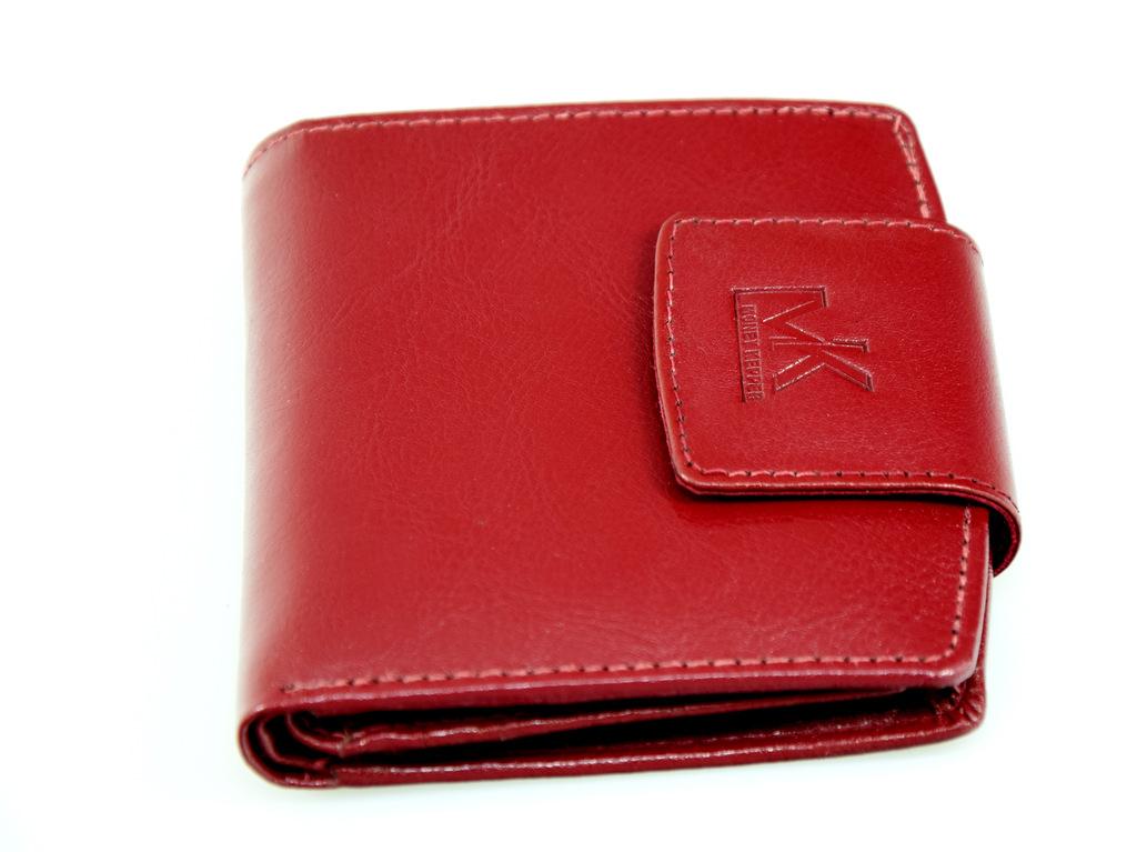 2b2ff07df75ba mały skórzany damski portfel bordowy money kepper - 6969755322 ...