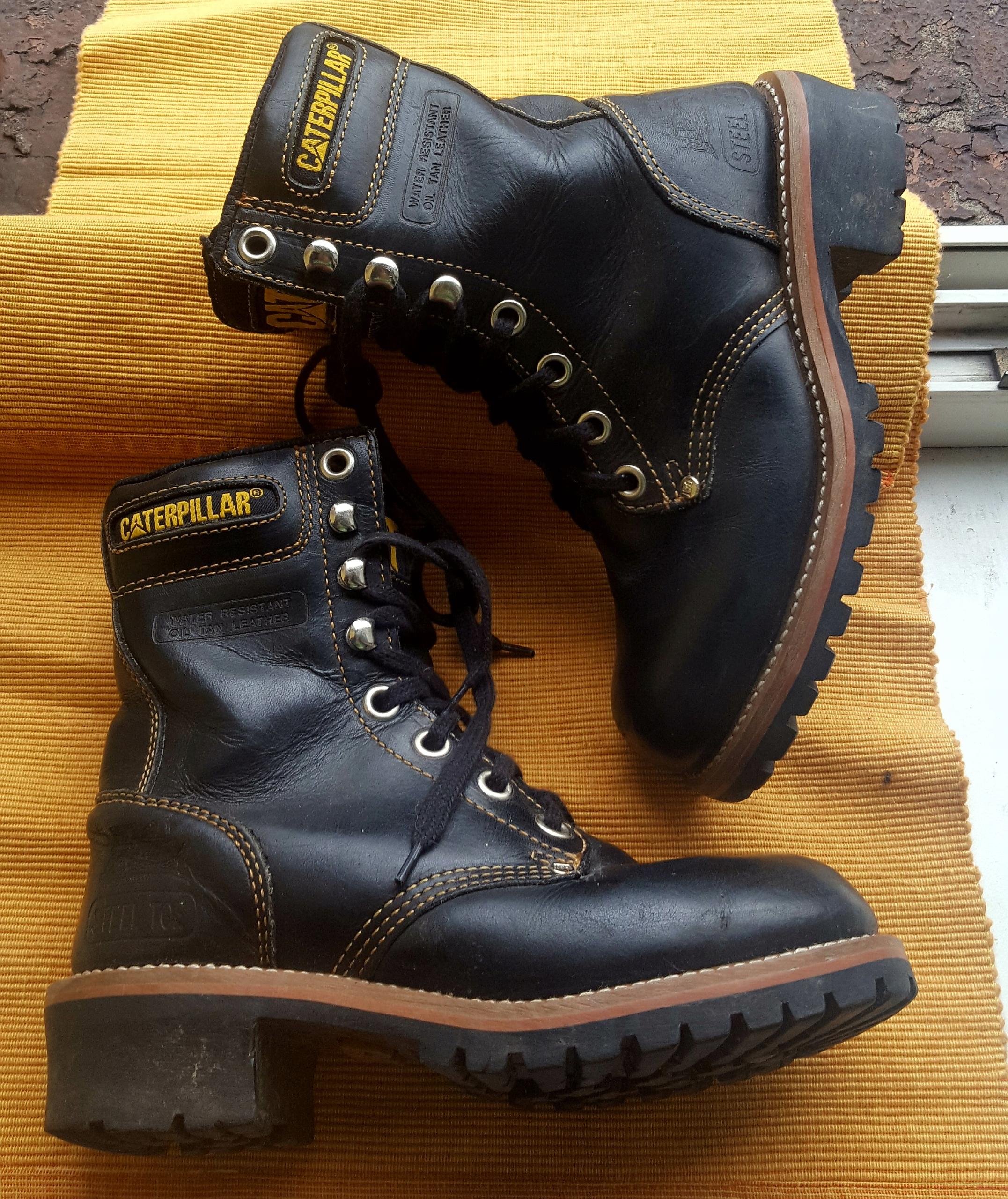 f816a8bb CAT Caterpillar glany biker boots workery skóra 36 - 7679070143 ...