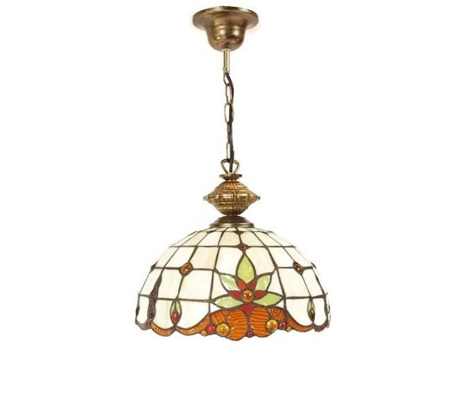 Lampa Witraż Wisząca Tiffany 30 Cm Tomex