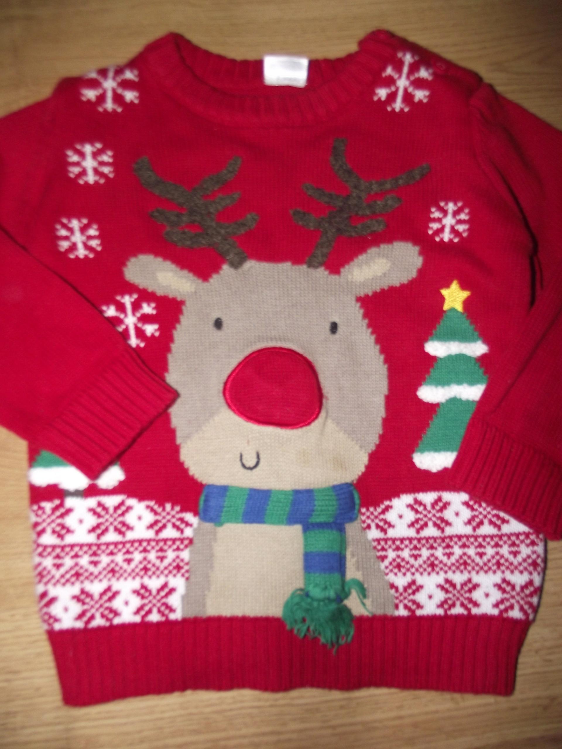 a8a0c2843cbcc4 F&F Świąteczny sweterek świecący Mikołaj 86 cm - 7682503915 ...