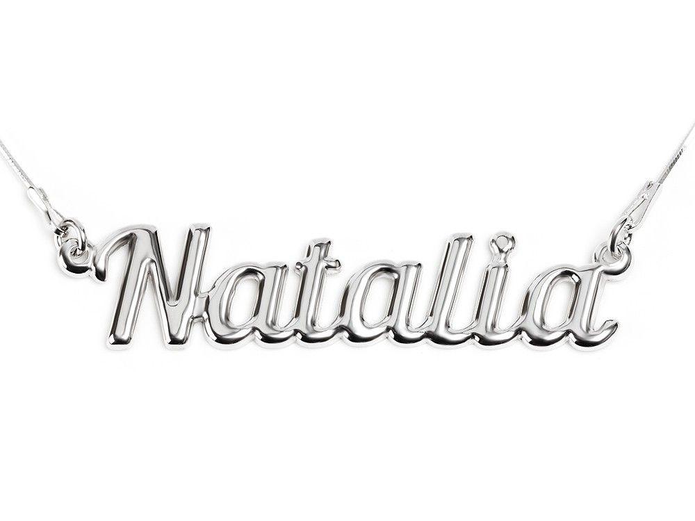 Naszyjnik Srebrny Damski Z Imieniem Natalia 925 7064878139