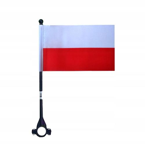 Bardzo dobryFantastyczny Maszt na Rower Flaga Polska Polski Narodowa Uchwyt - 7588299740 BO74