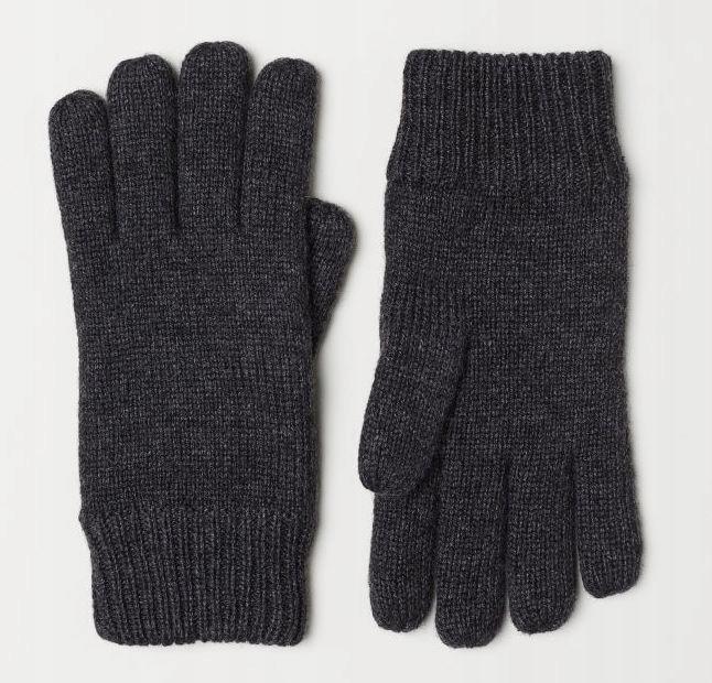 H&M Rękawiczki męskie z polarem L/XL
