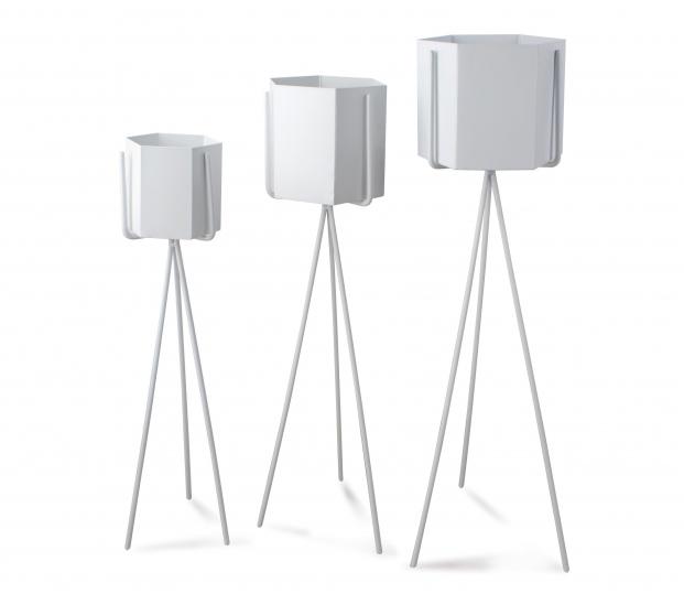 Białe Metalowe Osłonki Doniczki Kwietnik Dekoracja