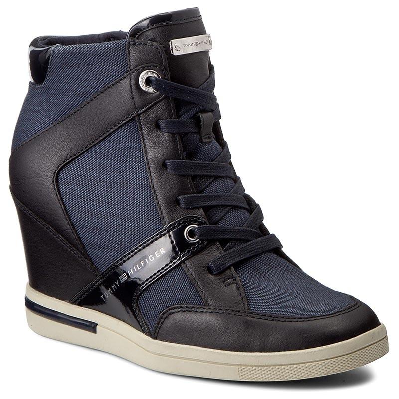 e13256b8190 Sneakersy botki buty na koturnie TOMMY HILFIGER 39 - 7350268038 ...