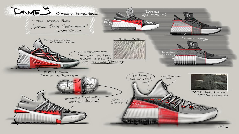 Adidas Dame 3 Roots buty koszykarskie 48 23 7229698552