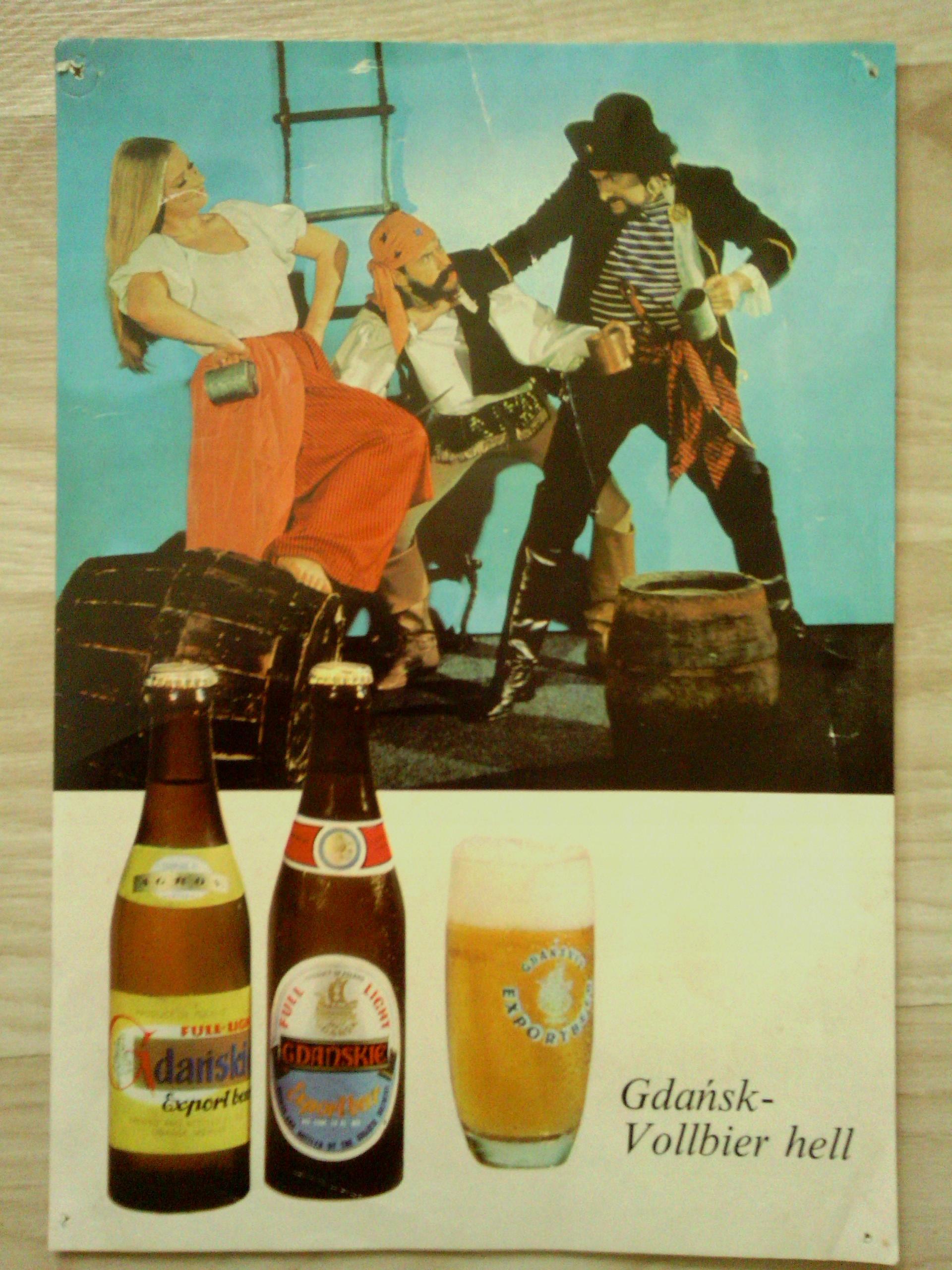 Stara Reklamaplakat Piwo Gdańskie