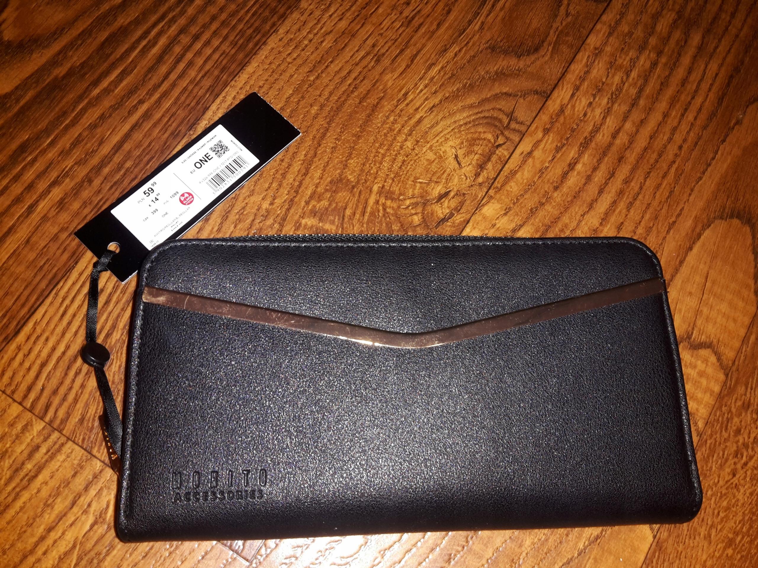 2cbec8db53e37 portfel MOHITO portmonetka czarny nowy 59zł okazja - 7552147901 ...