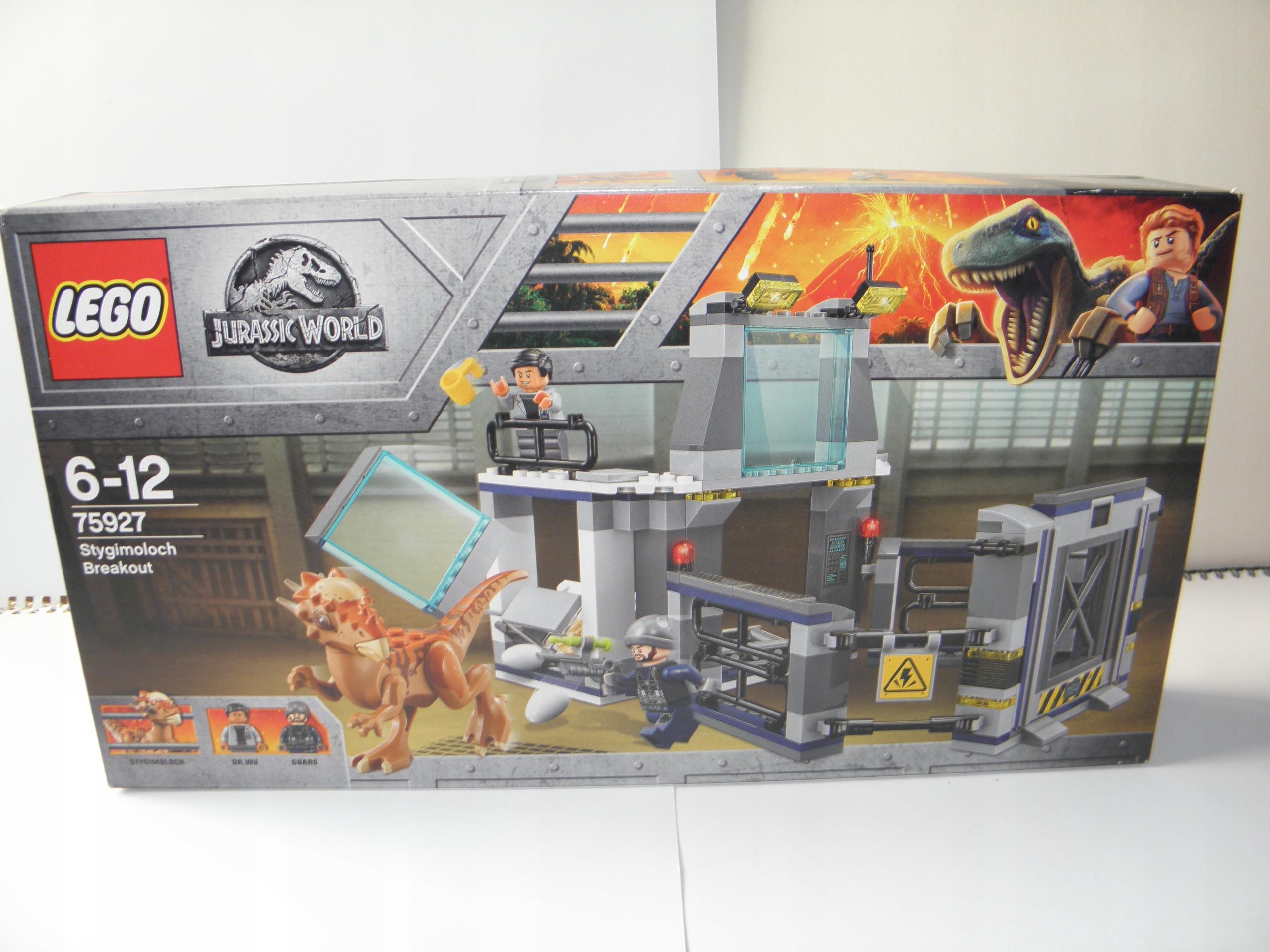LEGO JURASSIC WORLD 75927 UCIECZKA Z LABORATORIUM