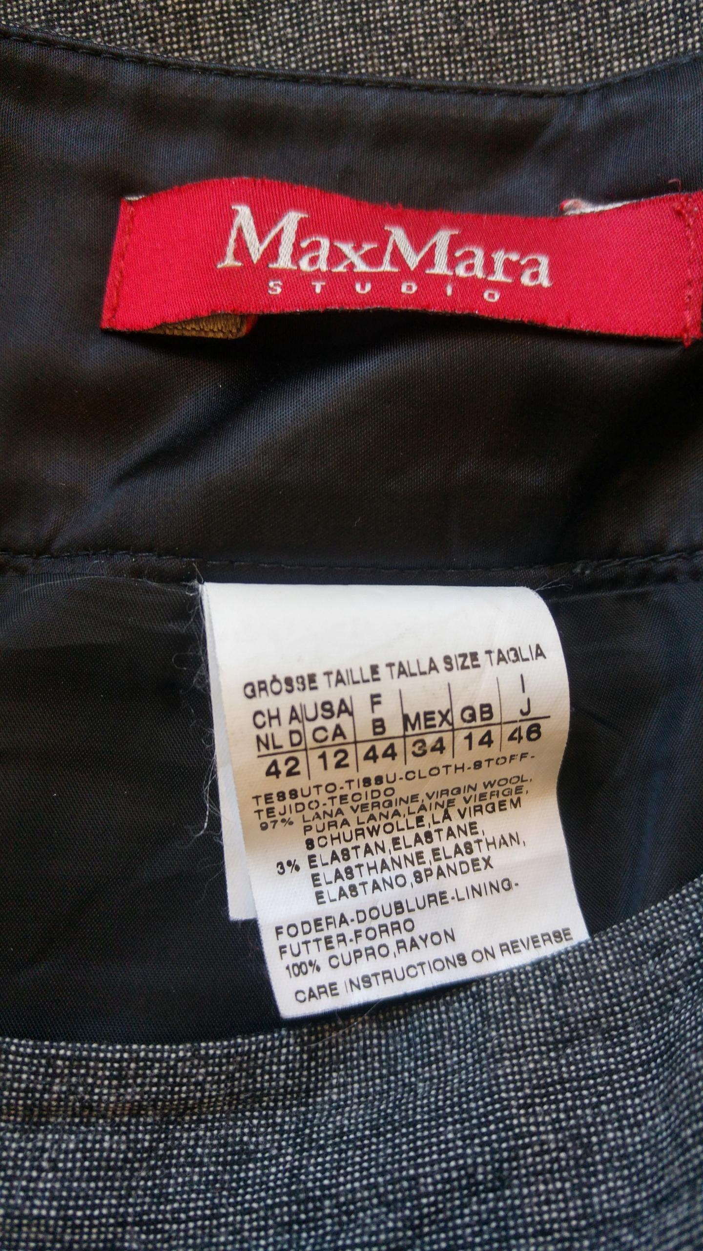 dec2e106 Max Mara spódnica wełna wełniana r 42