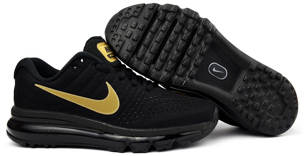 purchase cheap 02e52 9b2b1 Buty Nike Air Max 2017 (GS) r.38 czarno-złote (7015112161)