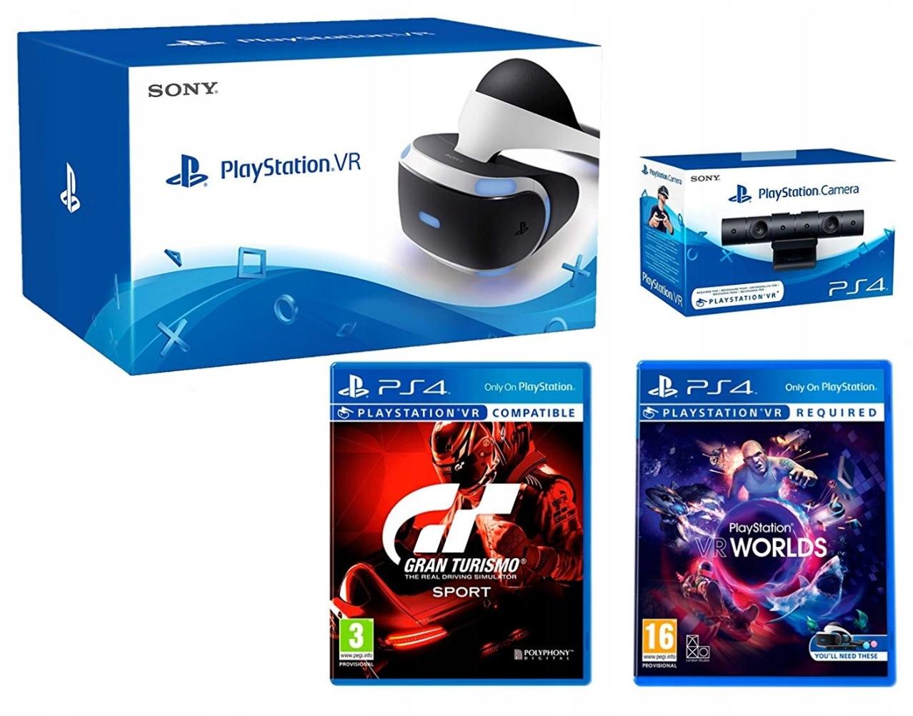 PS4 GOGLE VR (Okulary) + Kamera v 2.0 + 2 Gry