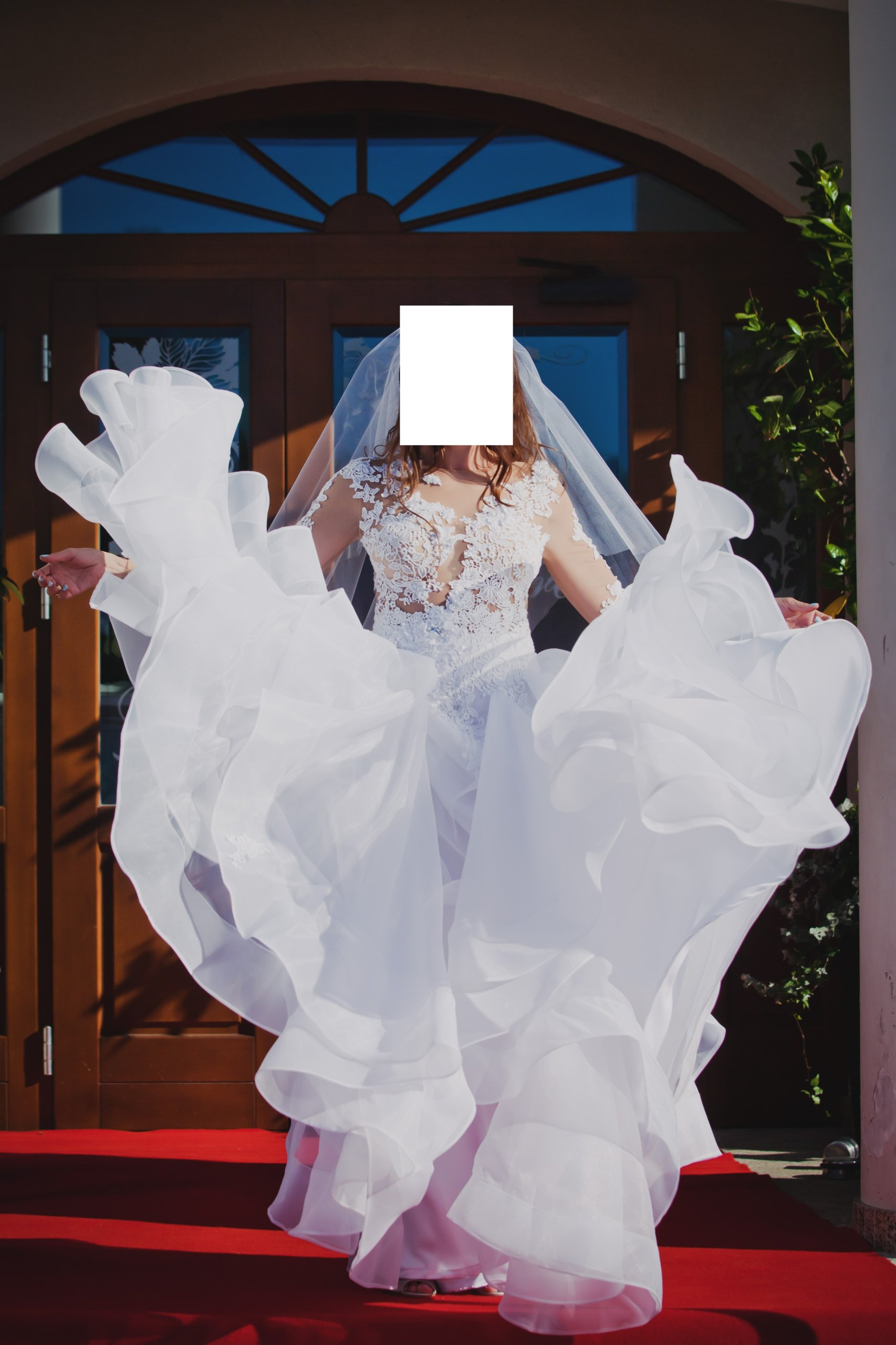 2220cf70b zjawiskowa suknia ślubna - 7524349684 - oficjalne archiwum allegro