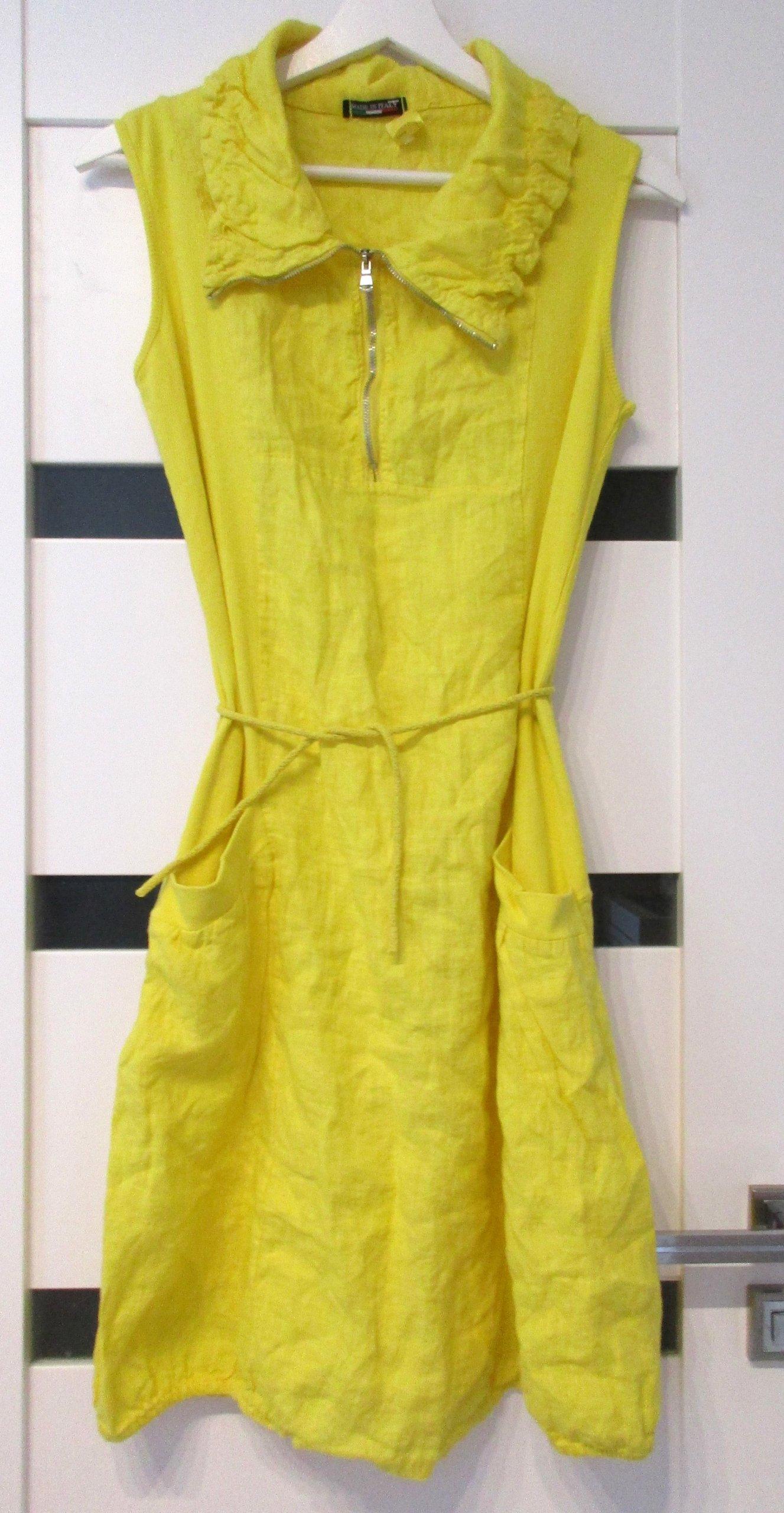 6d1fa7425d Piękna Sukienka Tunika Zółta 44 XXL Nowa - 7245642254 - oficjalne ...