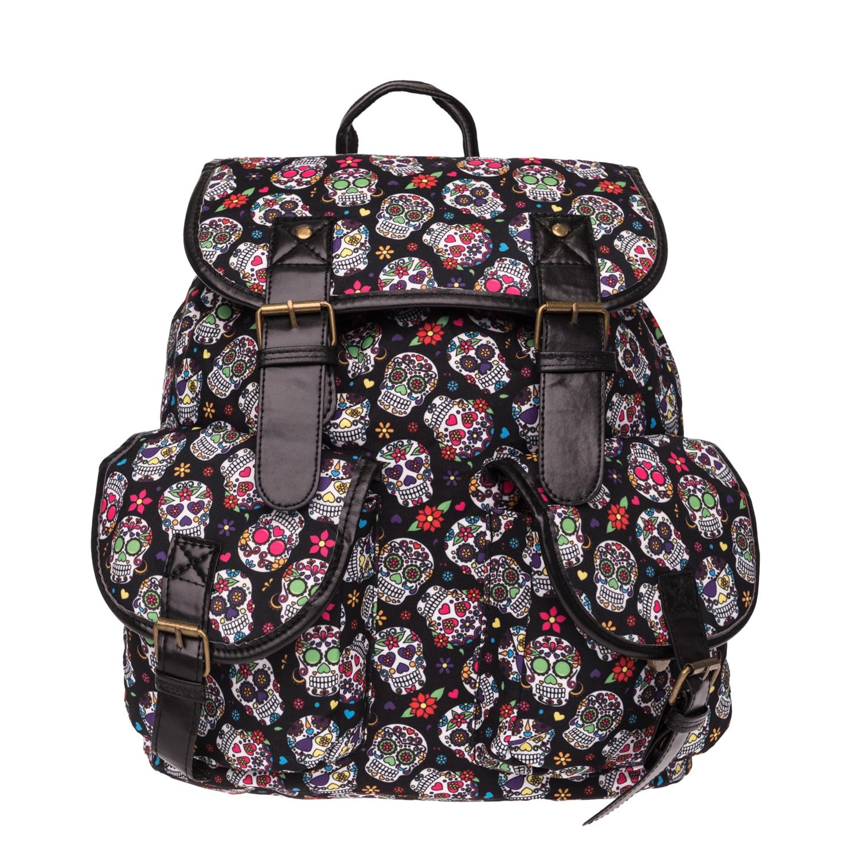 6731cee29bf7f plecak szkolny vintage klapy mexican skull czaszki - 7485513220 ...