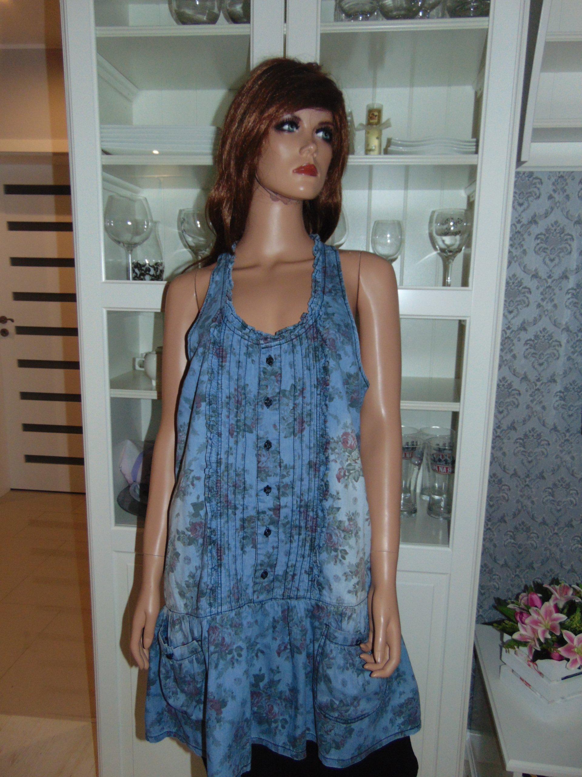 56e553ec48 Denim Co Dżinsowa Sukienka 44 7229896635 Oficjalne Archiwum Allegro