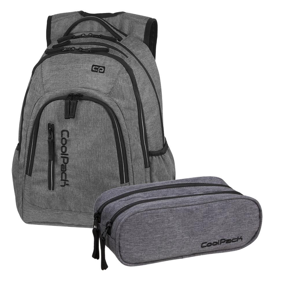 39fdc57668a98 Coolpack plecak Mercator + piórnik Snow Grey - 7450073816 ...