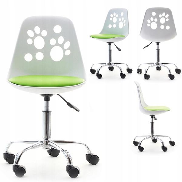 Małe Krzesło Obrotowe Dla Dzieci Foot Biało Szare 7325043425
