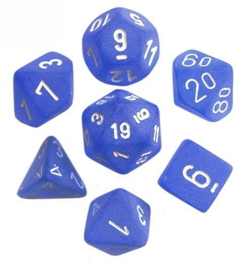 f1b3156785ecf5 Kości RPG 7 szt + pudełko Frosted Blue WBM - 7144684086 - oficjalne ...