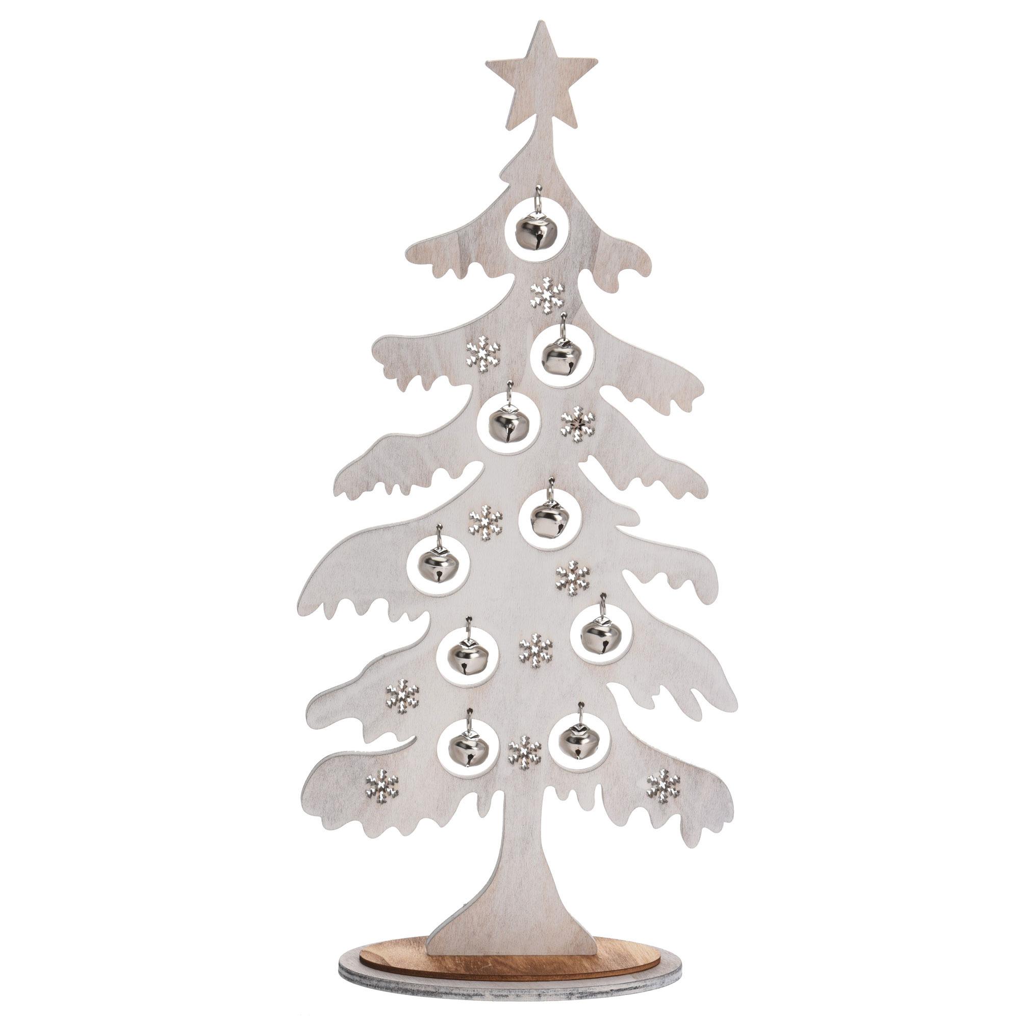 Choinka Dekoracja świąteczna Stojąca Drewno 35cm