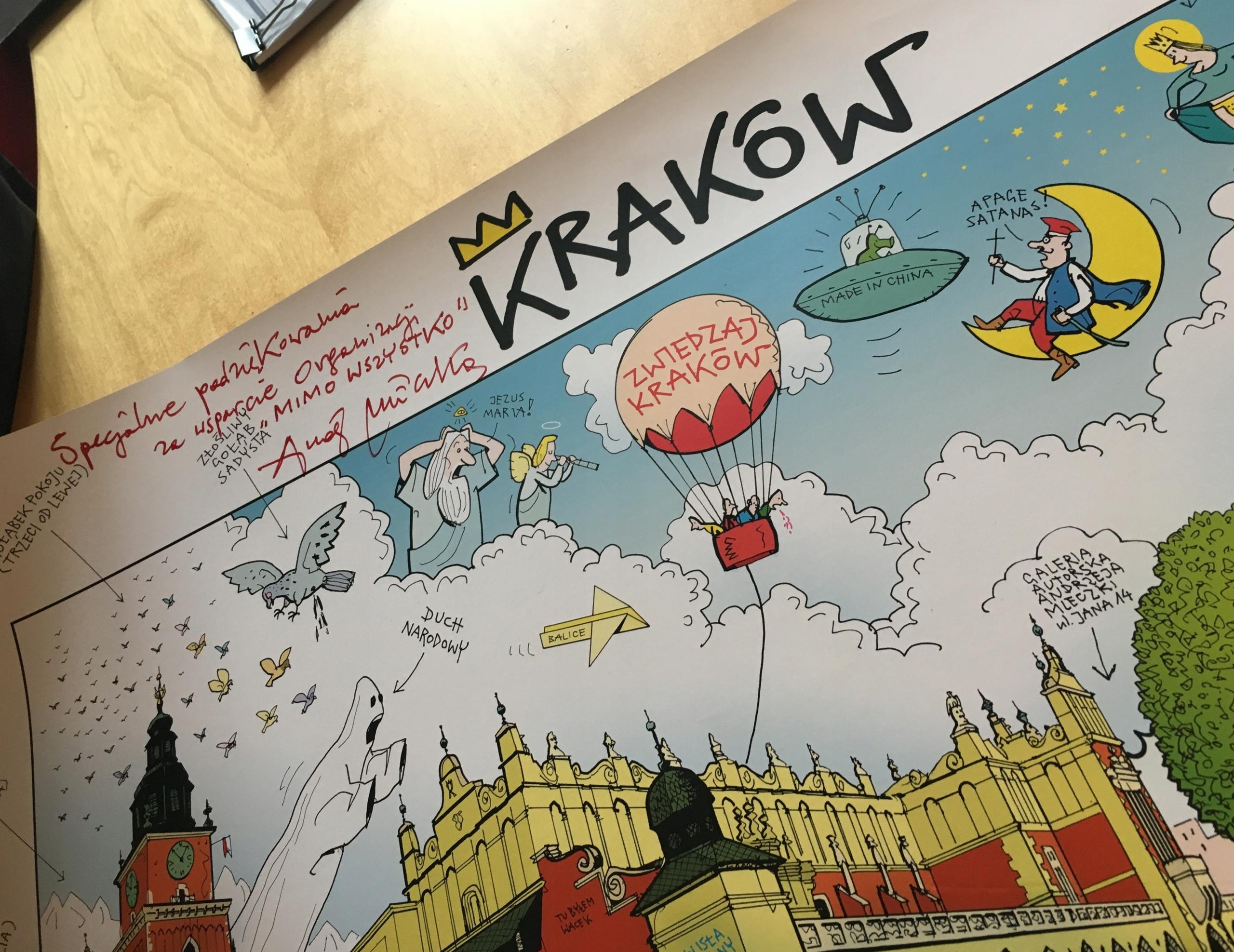 Plakat Kraków Andrzej Mleczko