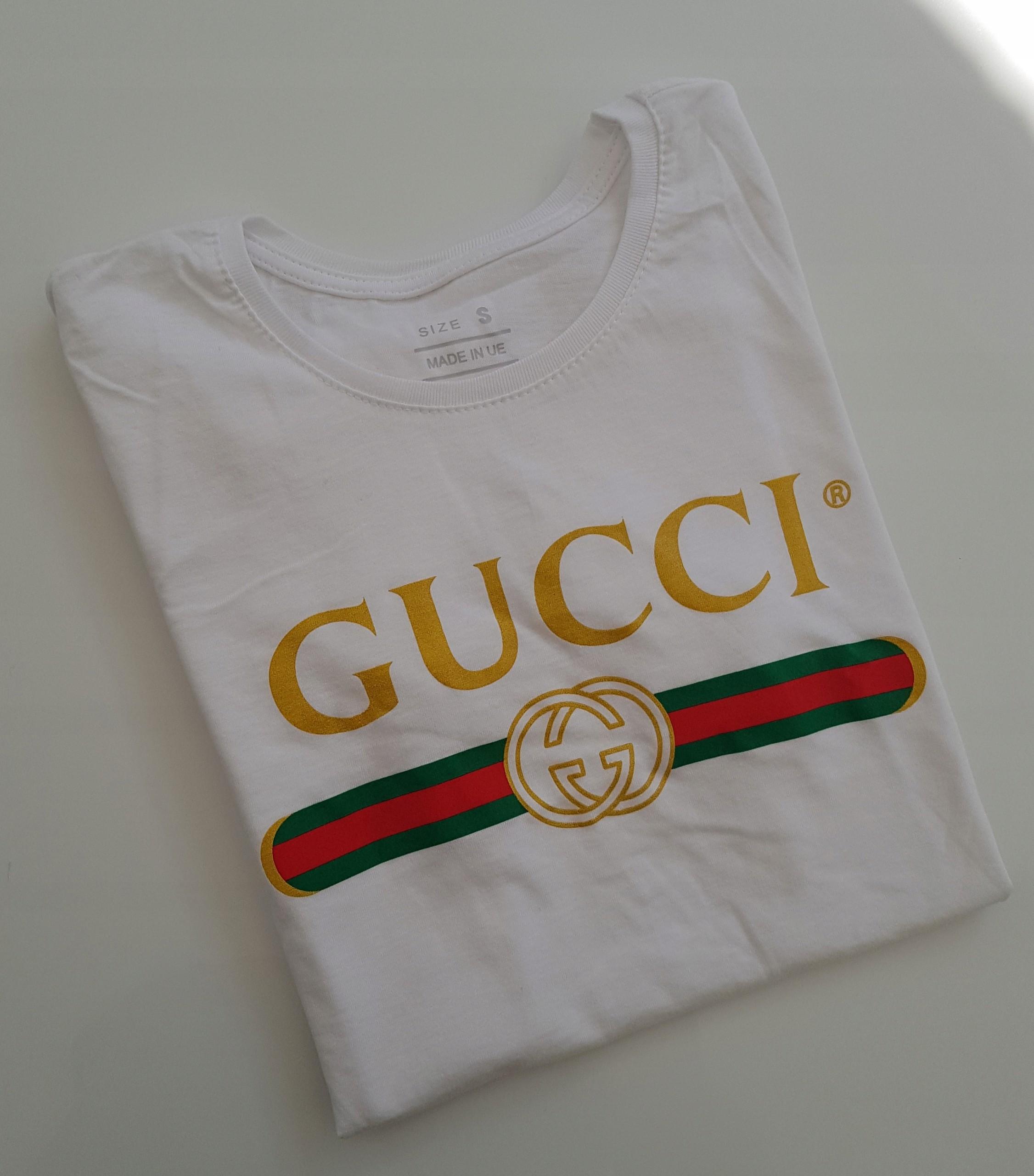 d28917f63c63c T-shirt koszulka bluzka Gucci biała S hit 2018 - 7425402981 ...
