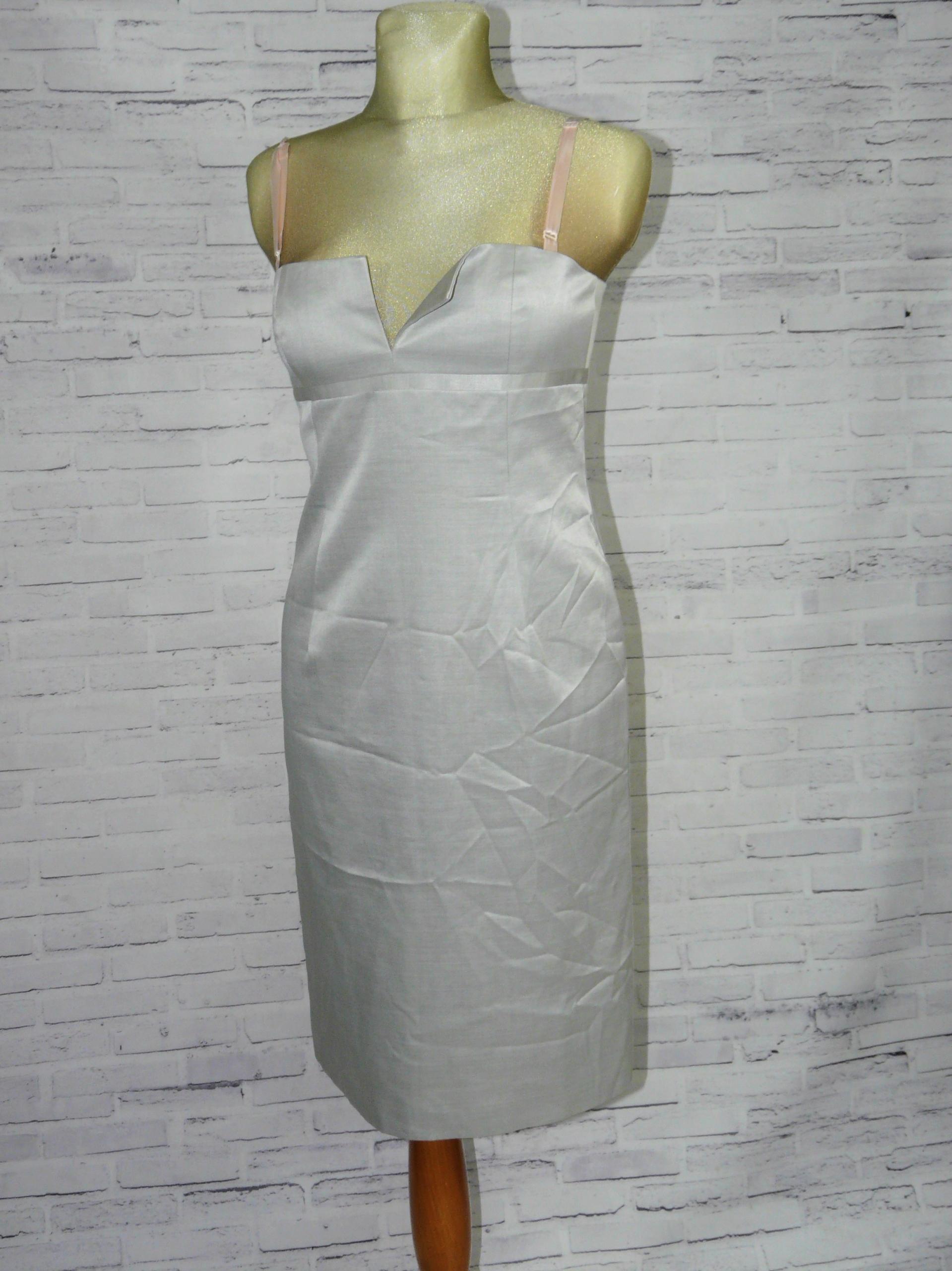861a8e73cb2480 DKNY elegancka ołówkowa sukienka wiskoza jedwab 38 - 7657270845 ...