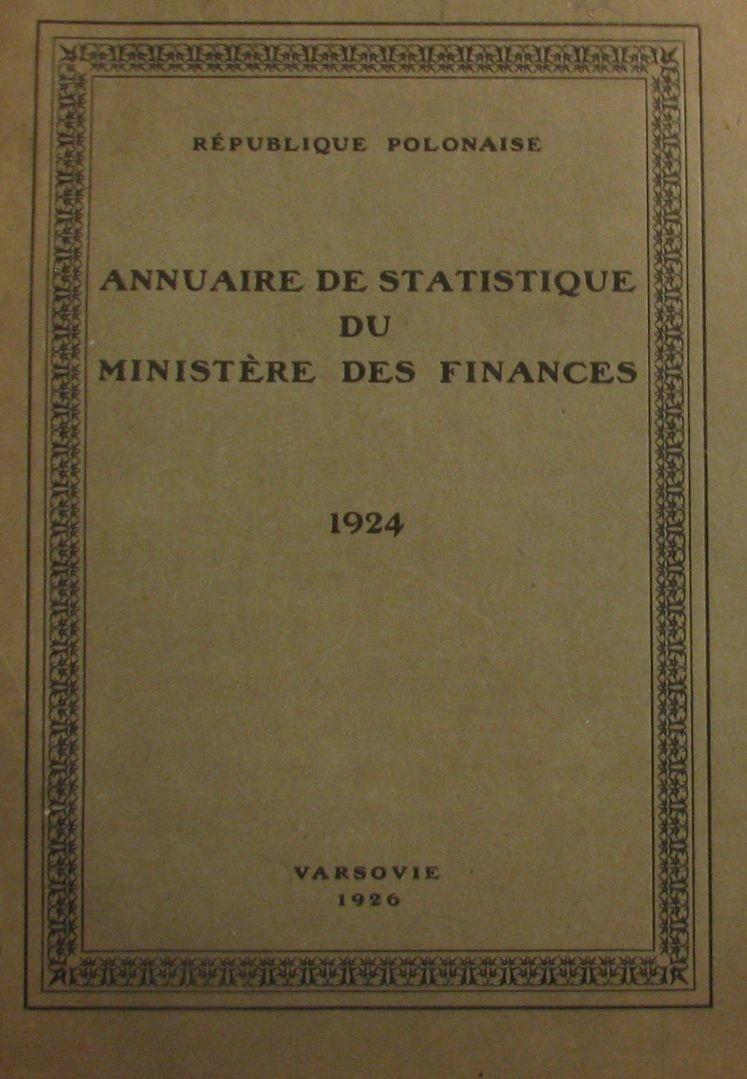 ANNUAIRE DE STATISTIQUE DU MINISTERE DES FINANCES