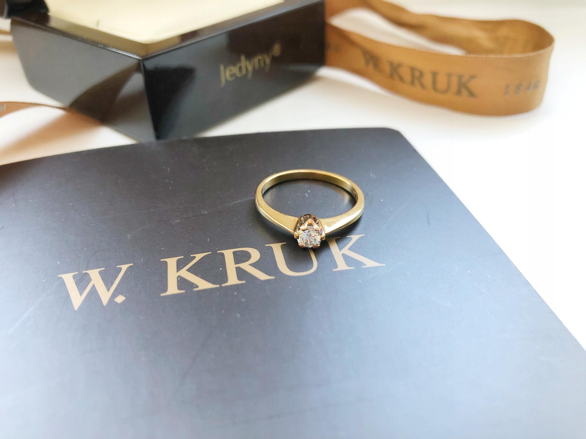 Pierścionek Zaręczynowy Z Kolekcji Jedyny Kruk 7443618889