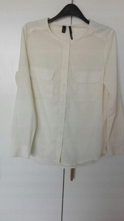 7686a2f144d84b kremowa ecru koszula MANGO roz 38 M - 7508138858 - oficjalne ...