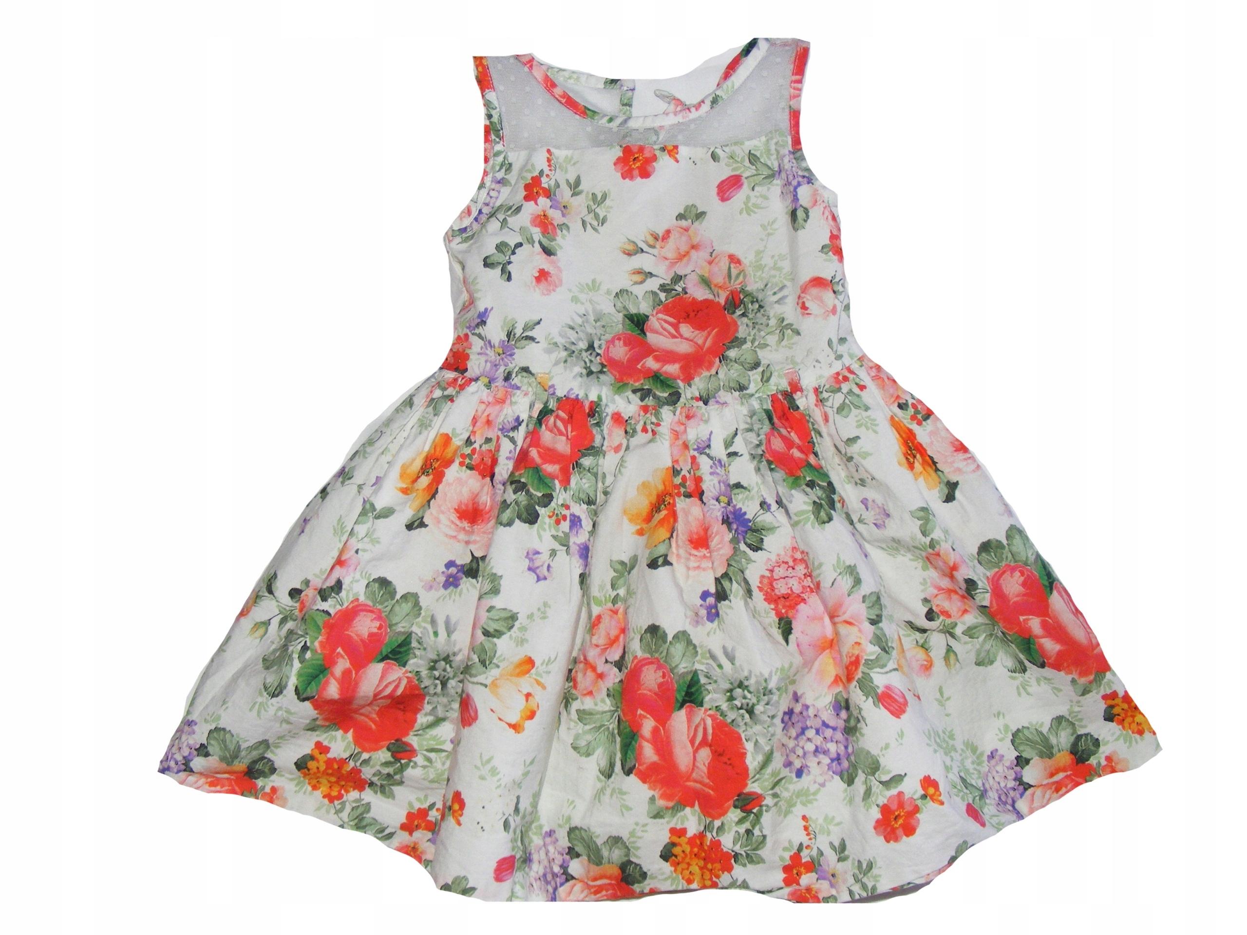 40a6b412ca Sukienka dla dziewczynki KWIATY 98 3 lata wesele - 7524263138 ...