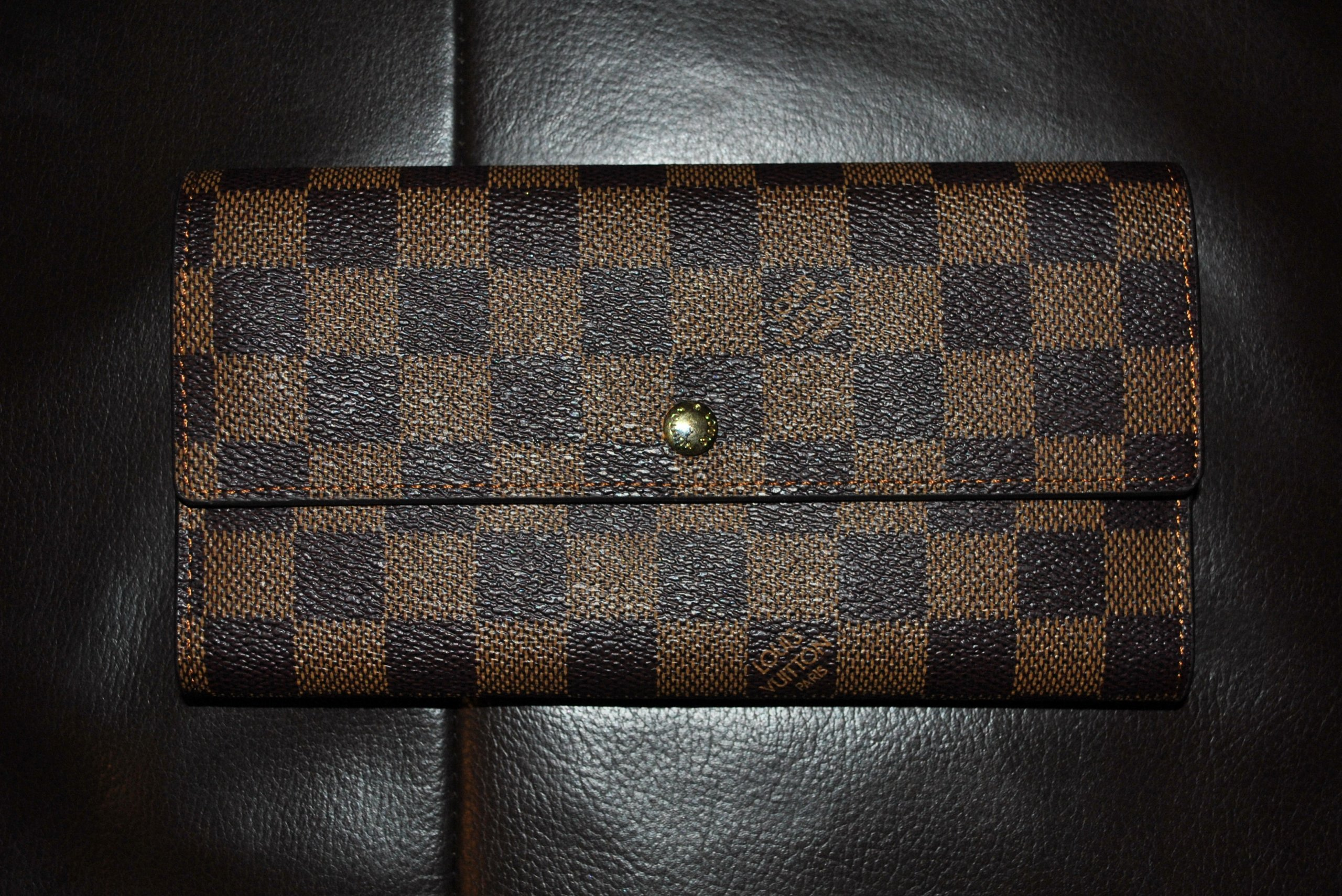 7ae1f68d77df5 PORTFEL LOUIS VUITTON PARIS damier ebene canvas - 7082920979 ...