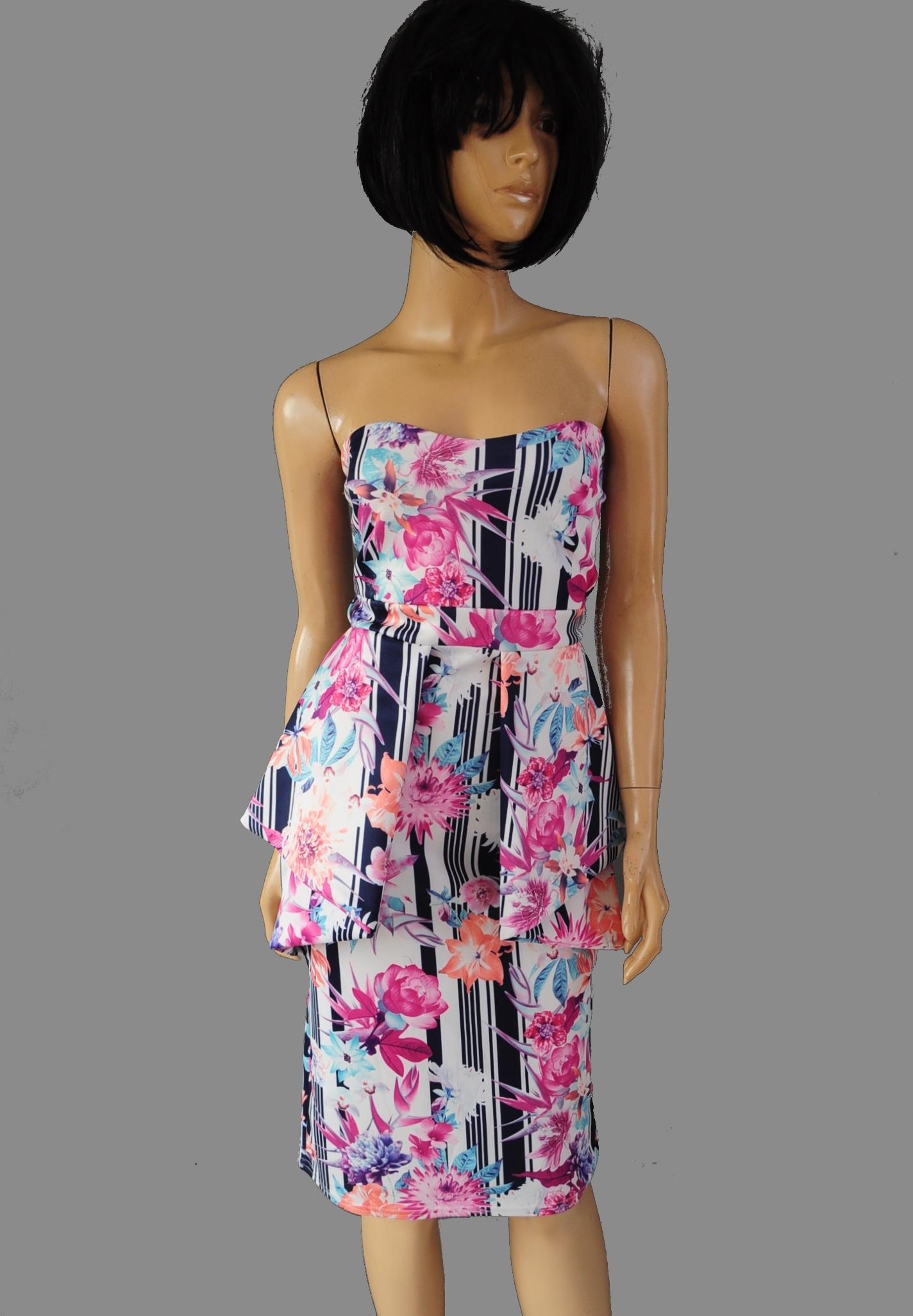c4c0396387 Evita sukienka biała wzorki ołówkowa 42 - 7680613224 - oficjalne ...