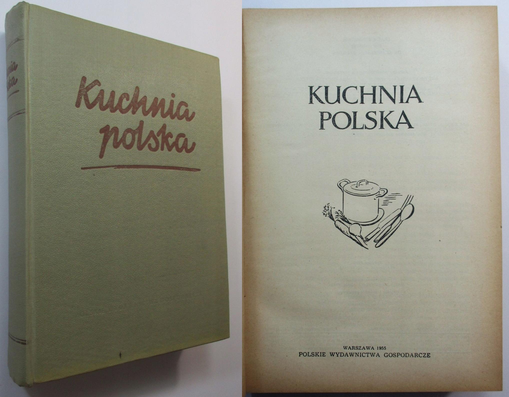 Kuchnia Polska Berger 1955 Książka Kucharska Wyd I