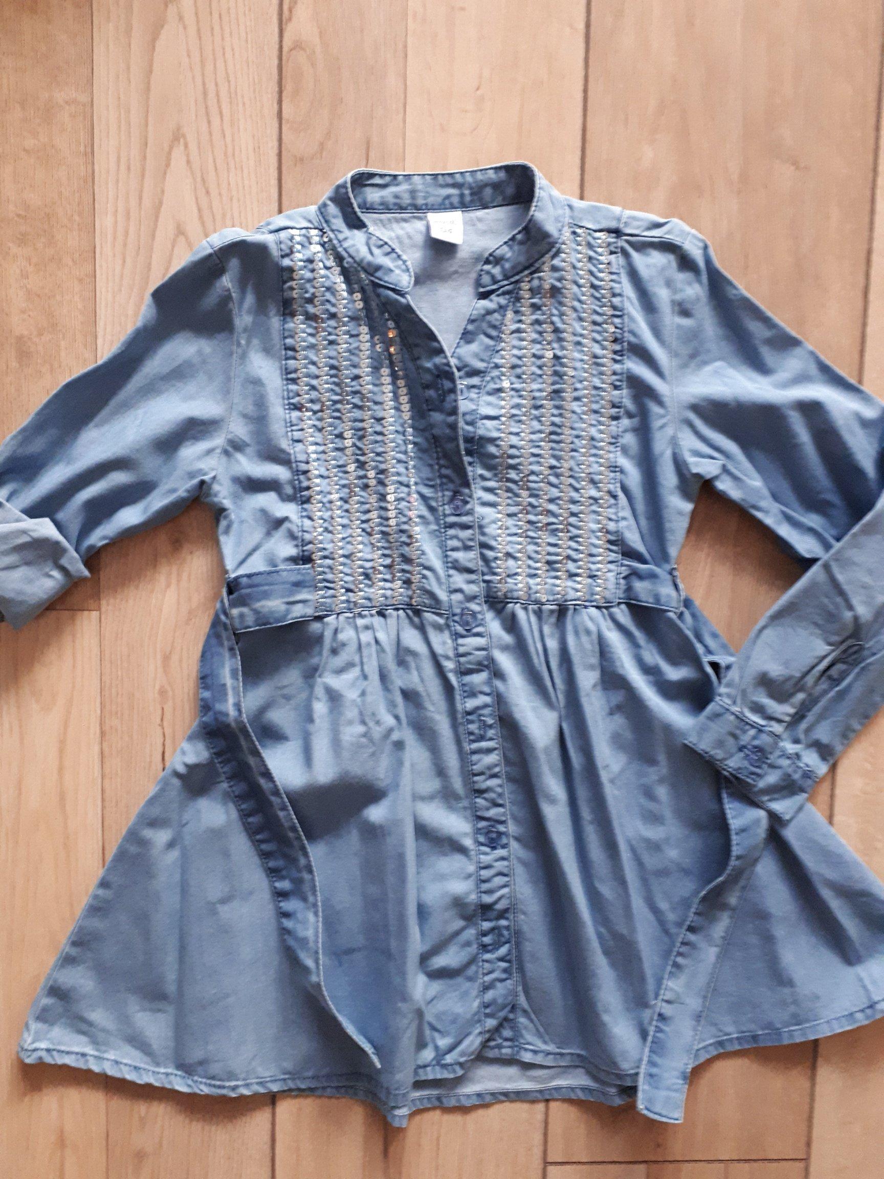 abfc22d03b Sukienka jeansowa WÓJCIK rozm. 134 - 7114155040 - oficjalne archiwum allegro