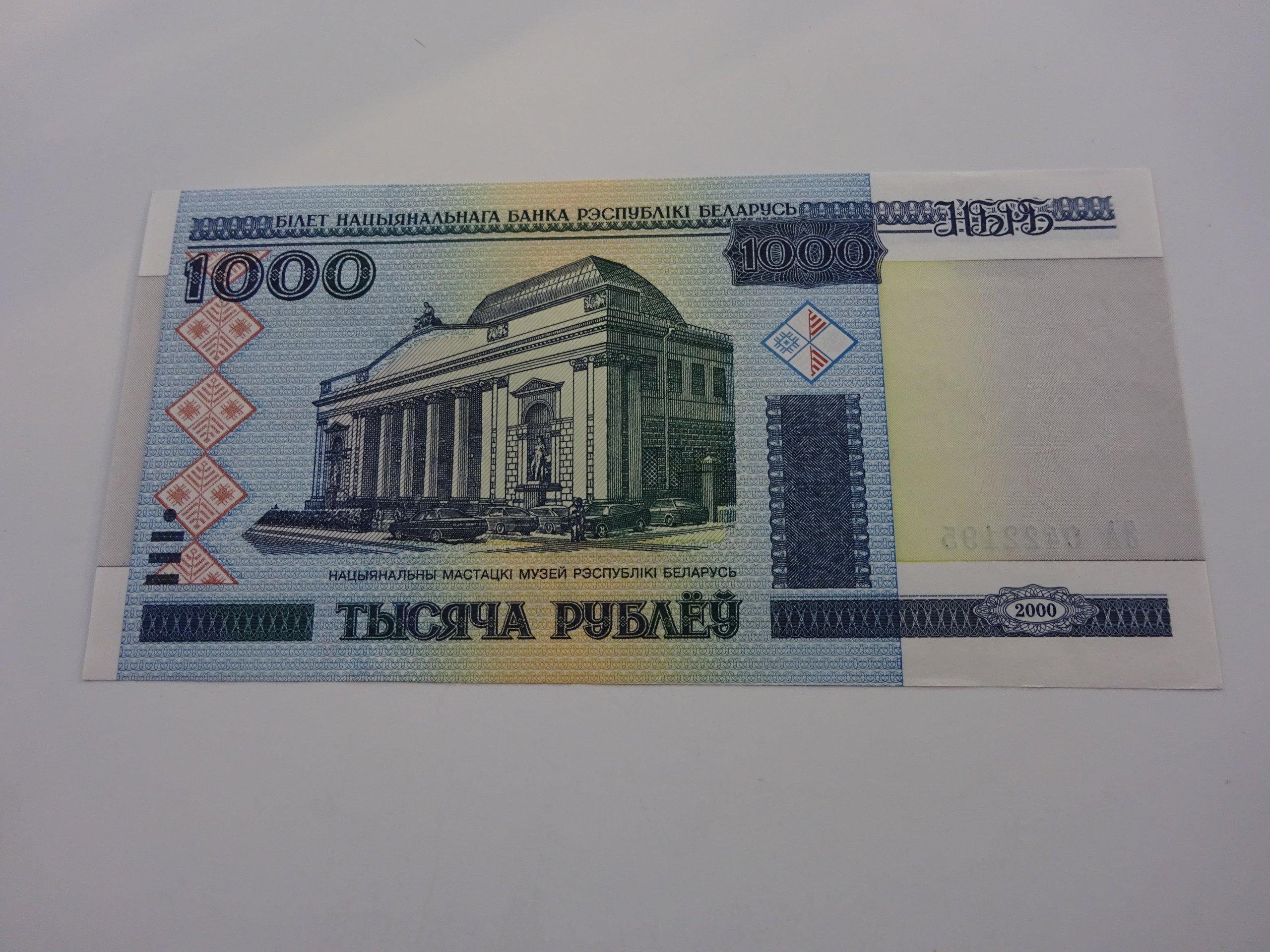 Białoruś 1000 rubli 2000 r. UNC