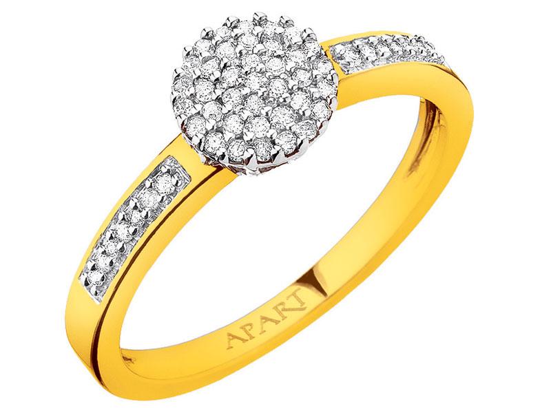 Złoty Pierścionek Apart Kolekcja Broadway Diamenty 7318230499