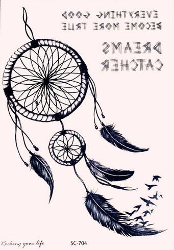 Tattoo Tatuaż Kolorowy łapacz Snów Sc 704 7160578795