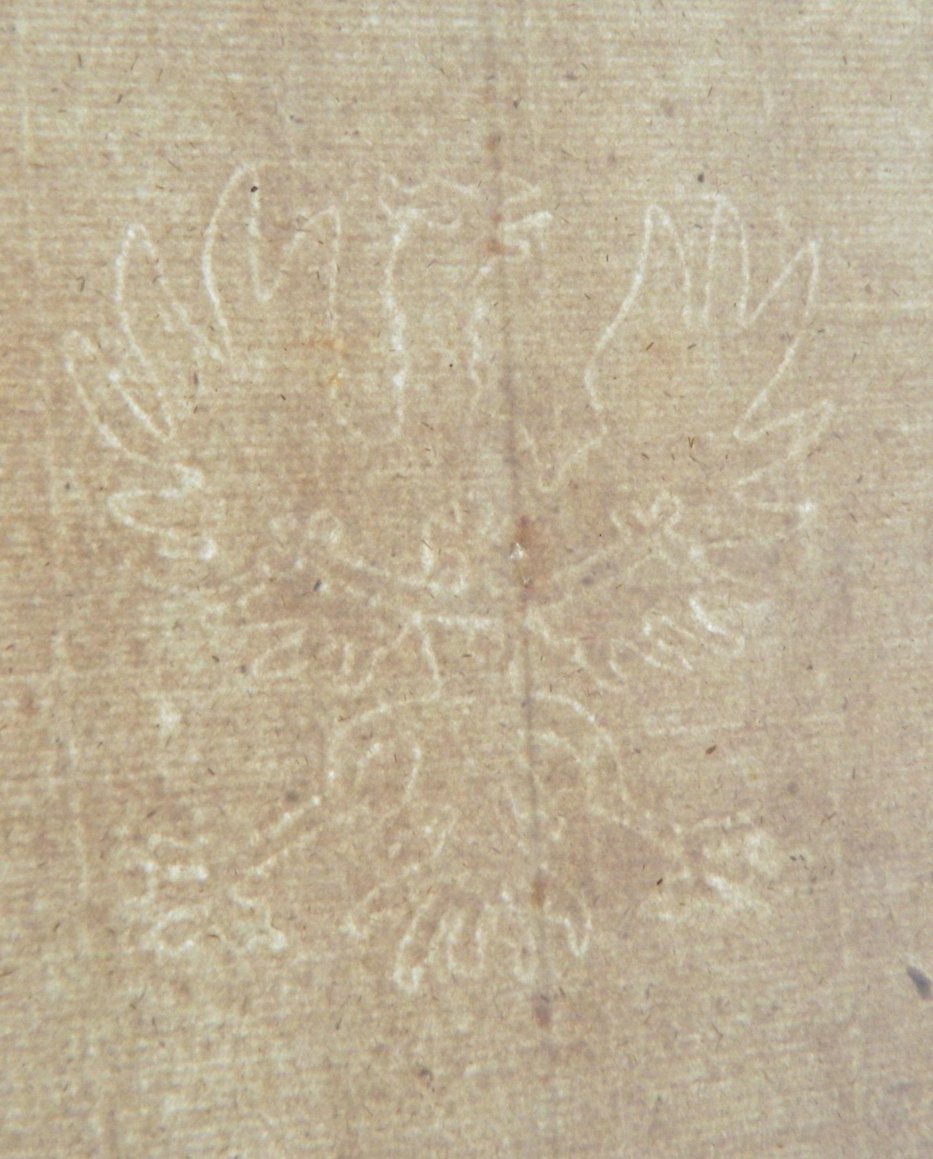 Stary papier czerpany XVIII w. Śląsk orzeł 46