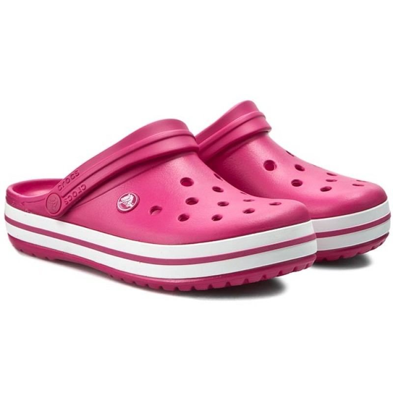 crocs crocband kids raspberry white J2 33-34 - 7253576453 ... c7360d7444d