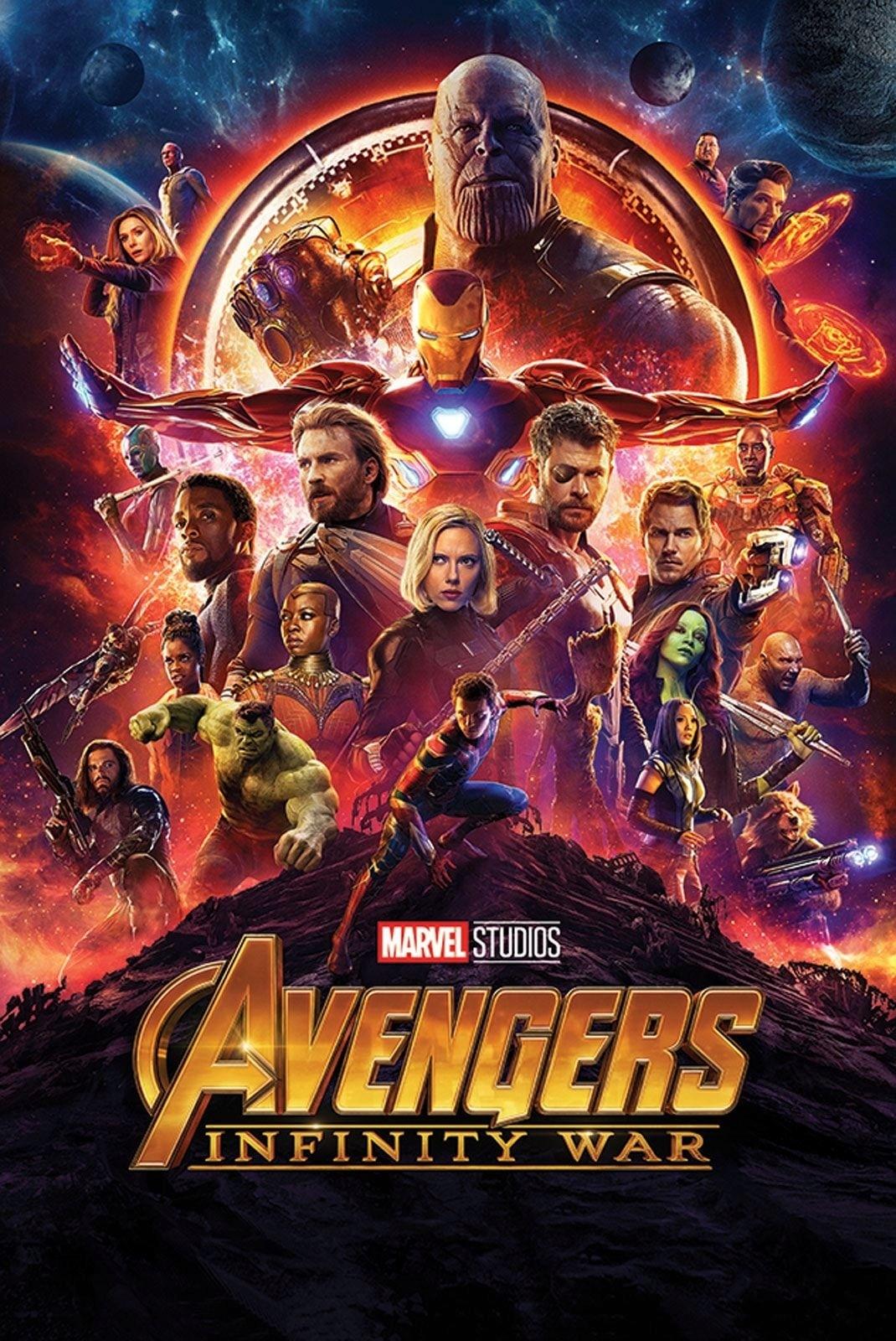 Plakat Z Filmu Avengers Infinity War 61x915 Cm