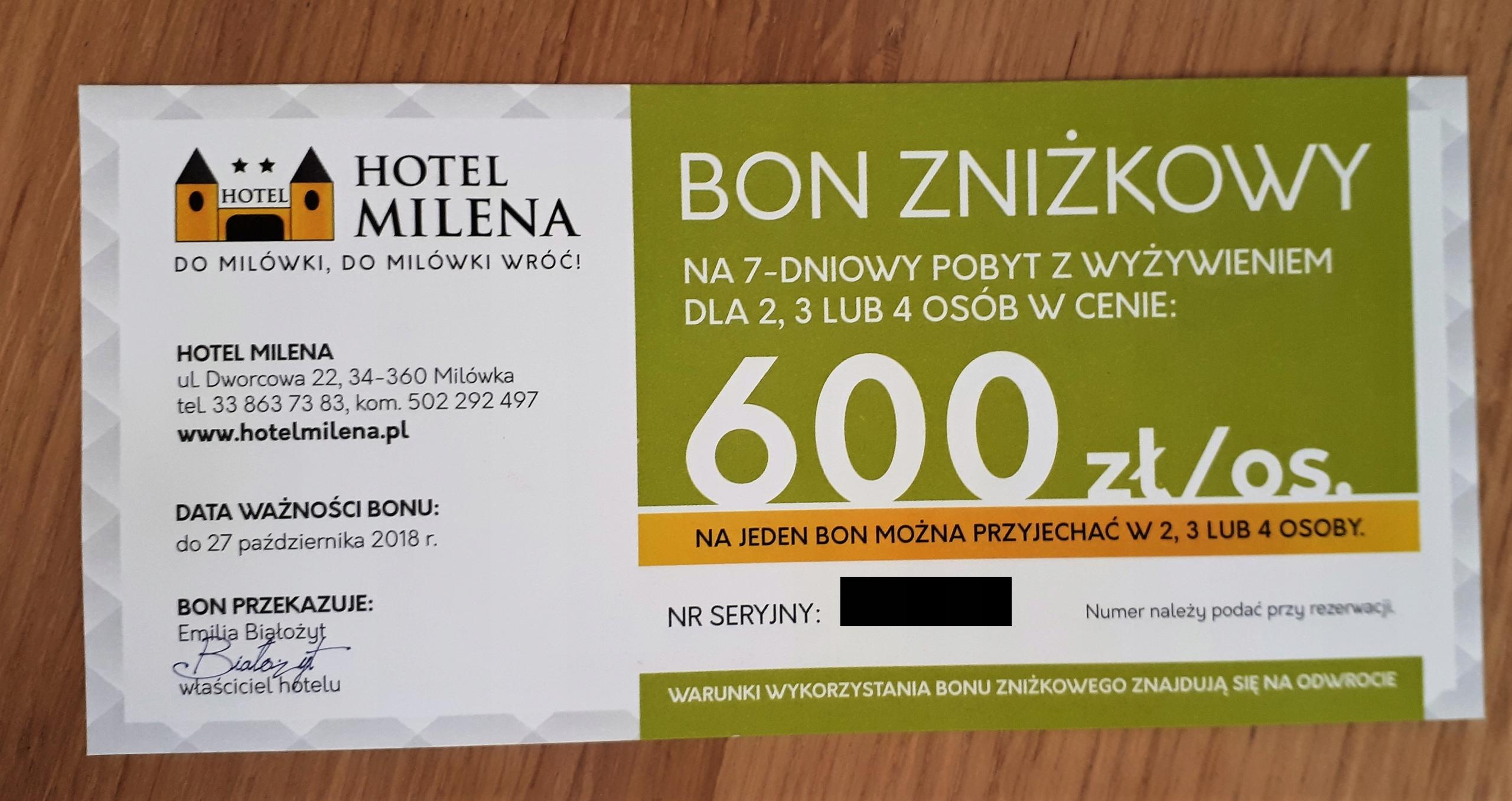 Bon zniżkowy Hotel Milena w Milówce - nawet 600 zł