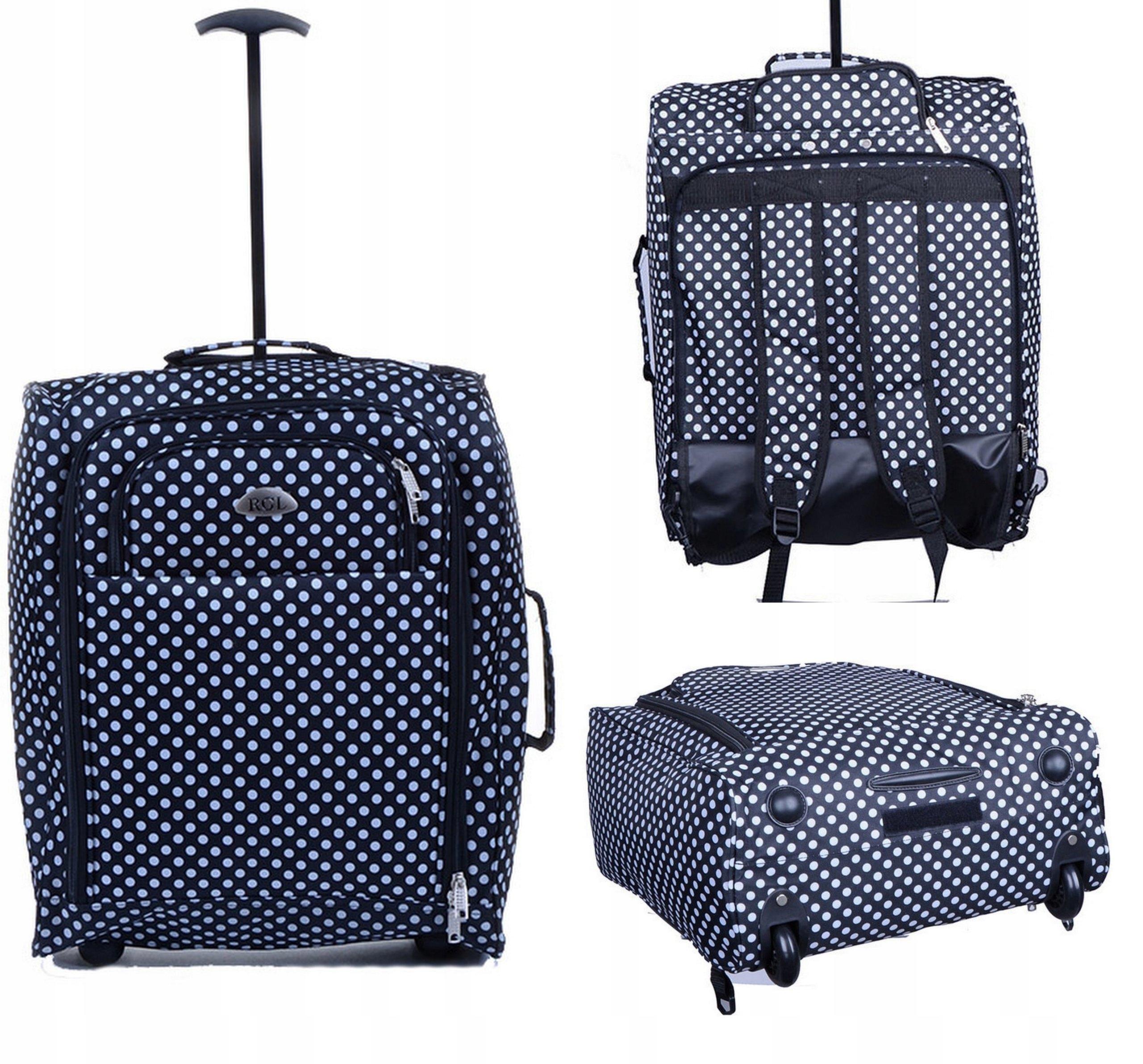 d9eebaa27b205 lekka walizka na kółkach bagaż podręczny 55x40x20 - 6529524078 ...