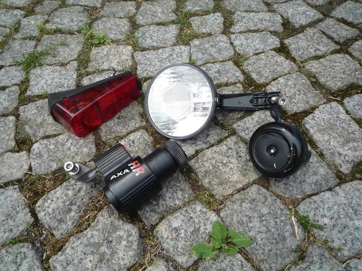 Oświetlenie Halogenowe Lampki Dynamo Axa