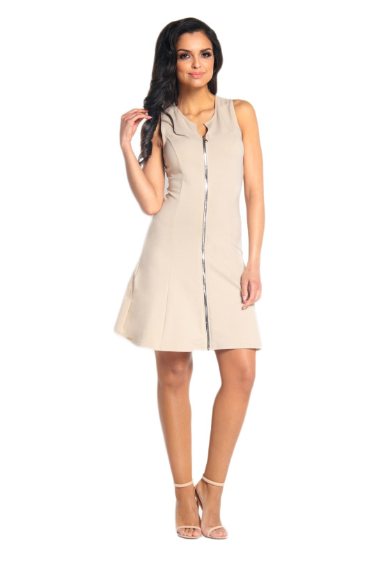 89dc5f4c15 L183 sukienka z zamkiem beżowy S (36) LEMONIADE - 7190259278 ...