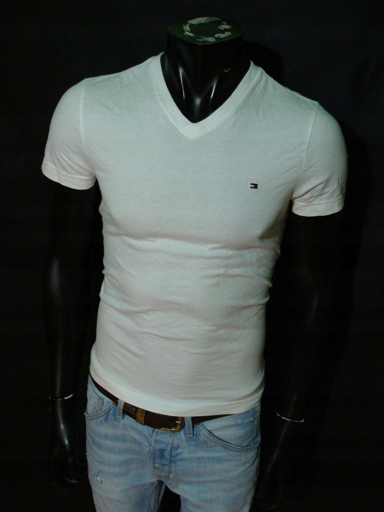 Tommy Hilfiger Denim basic tee szara koszulka z logiem męska