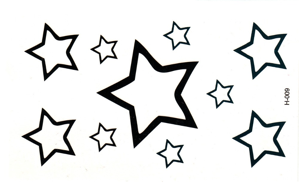 Tattoo Tatuaż Czarny Gwiazdki H009 7098665103 Oficjalne