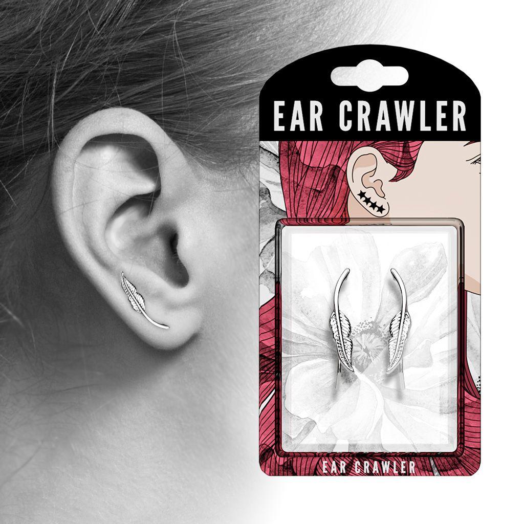 3627edc6ec3557 Kolczyk nausznica do ucha w kształcie gałązki Craw - 7322273661 ...