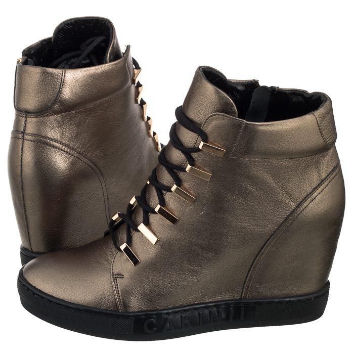 85367d92 Buty Damskie Sneakersy Carinii B4516 Złote - 7485569719 - oficjalne ...