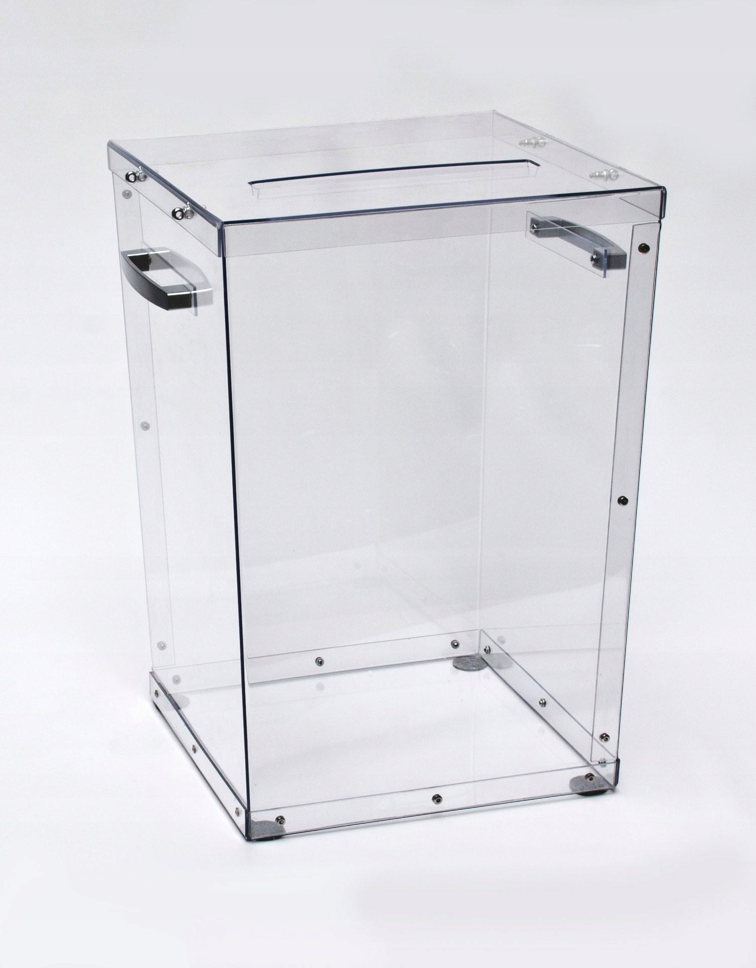 Urna Wyborcza z poliwęglanu 75x75x100 zgodna z PKW